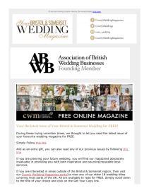 Your Bristol and Somerset Wedding magazine - April 2021 newsletter