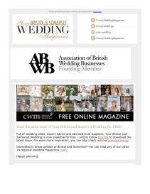 Your Bristol and Somerset Wedding magazine - July 2021 newsletter
