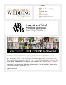 Your Bristol and Somerset Wedding magazine - September 2021 newsletter