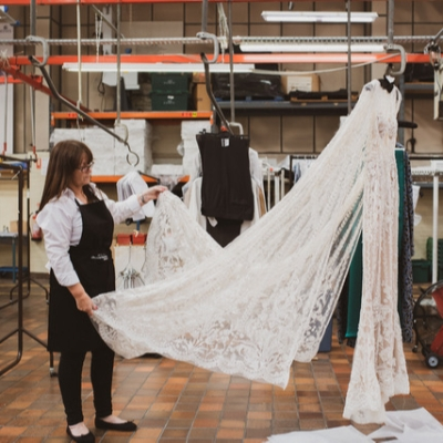 Is dry cleaning my wedding dress necessary?