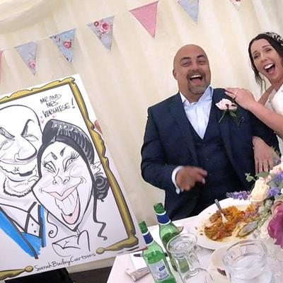 Meet Somerset wedding caricaturist Sarah Bailey Cartoons