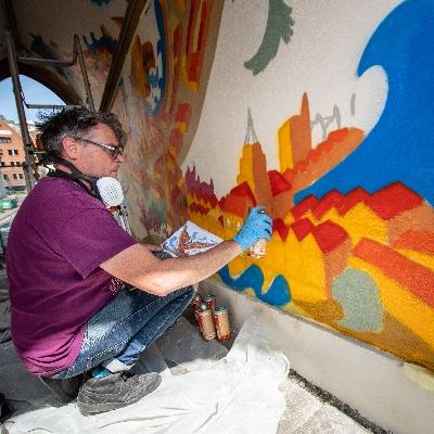 Mural revitalises gateway to Bristol's Old City