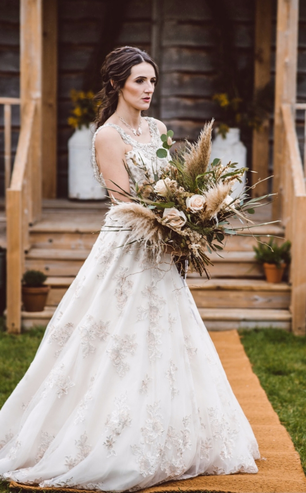 Bride wearing a dress from Bridal Reloved in Street, Somerset