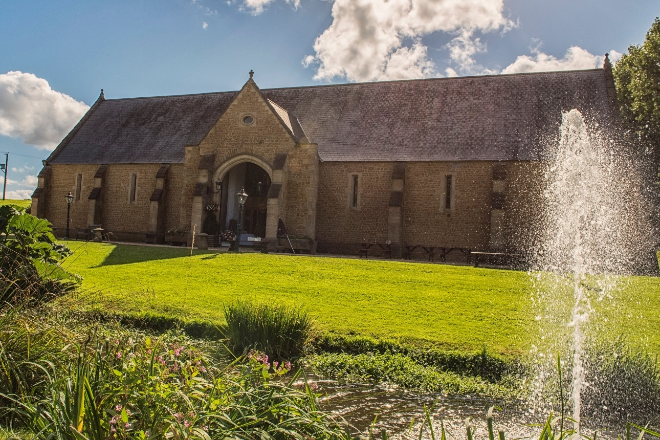 The Tithe Barn at Somerset venue Haselbury Mill