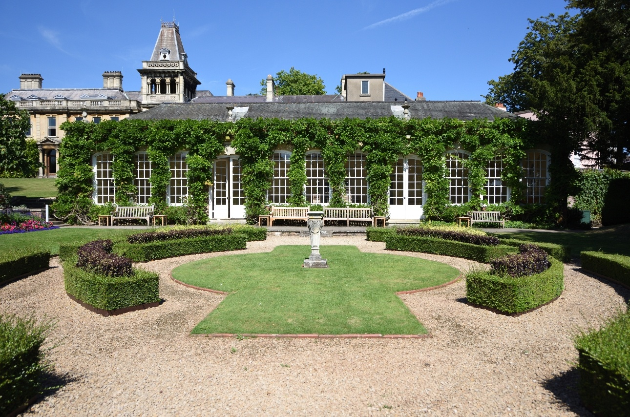 Exterior of The Orangery at Goldney House wedding venue on sunny day