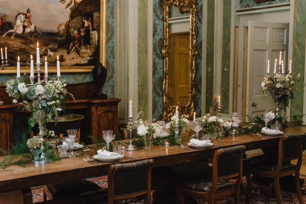Table set for intimate wedding at Maunsel House wedding venue