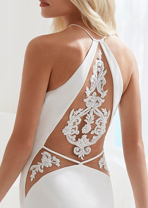 Detailed back of wedding dress