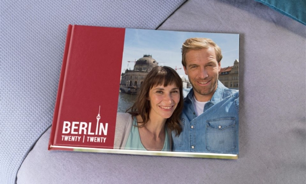photo album with a picture of a couple on the front
