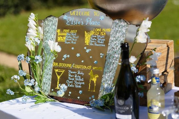 Cocktail menu tableplan