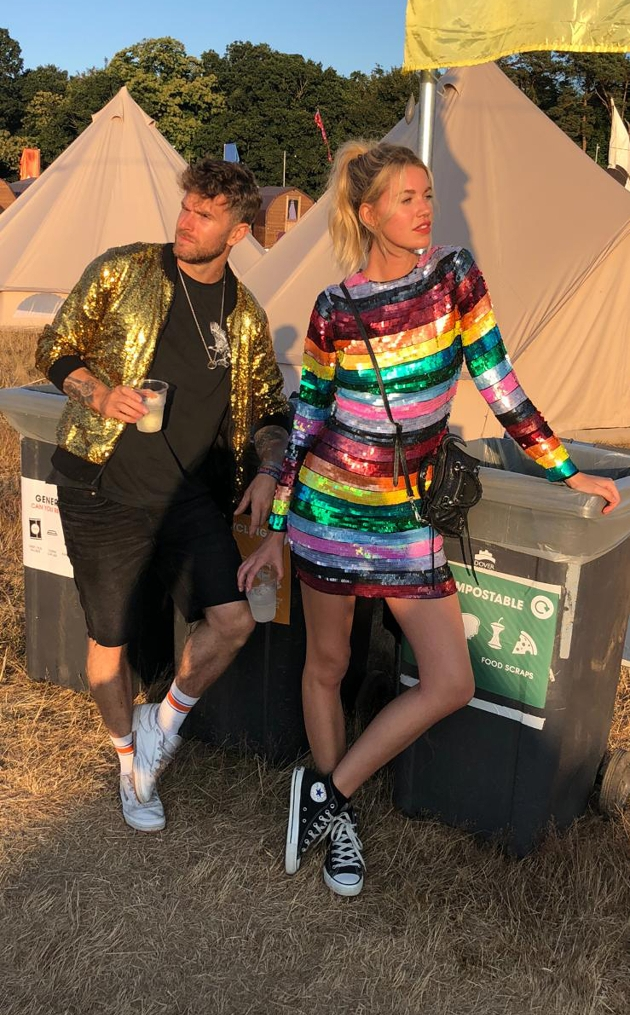 Joel Dommett and Hannah Cooper dressed up in sparkles in aid of Bristol-based Brain Tumor Support